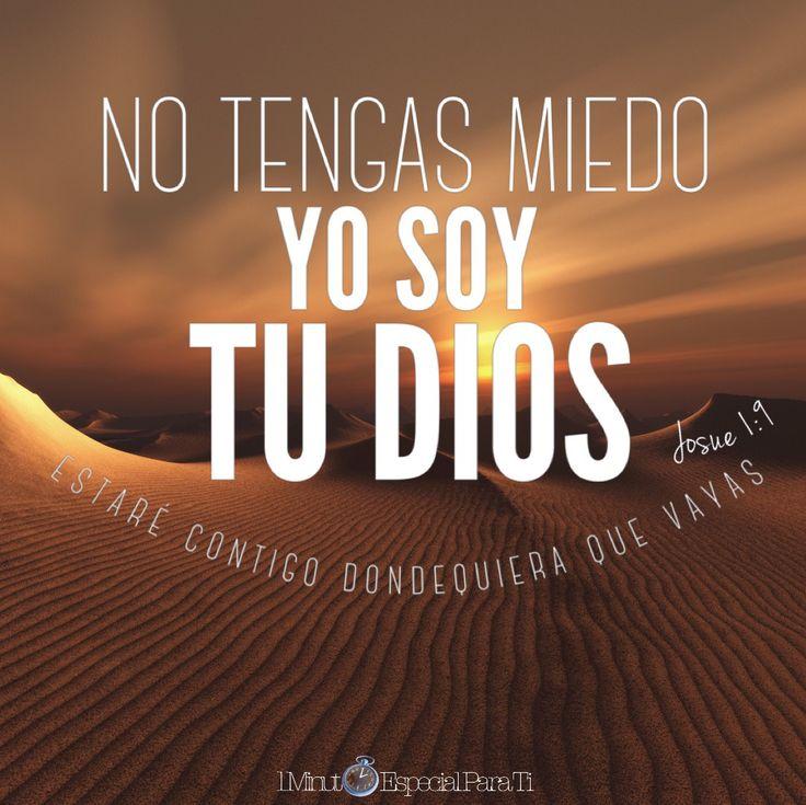 Yo soy quien te manda que tengas valor y firmeza. No tengas miedo ni te desanimes porque yo, tu Señor y Dios, estaré contigo dondequiera que vayas.»  Josué 1:9 DHH