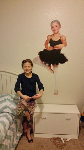Girls Ballerina Bedroom. Turn your daughters favorite dance picture into the best room decor ever. Visit us and follow us on Pinterest for all your home decor and gift ideas.