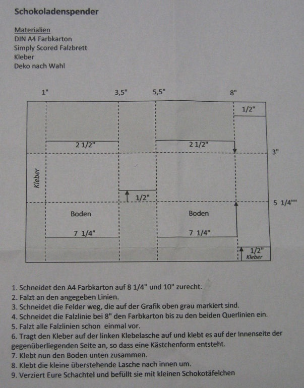 template for chocolate dispenser (Anleitung für Schoki-Spender)