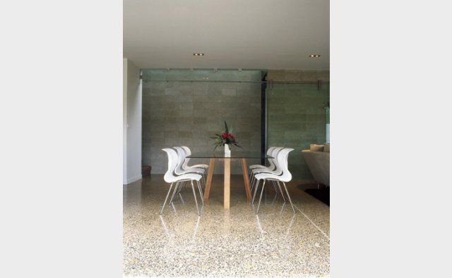 Interior honed concrete with PFL #232, with minimal cuts