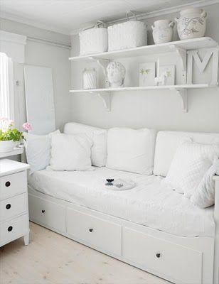 Kijk, wel heel erg wit met een witte vloer...