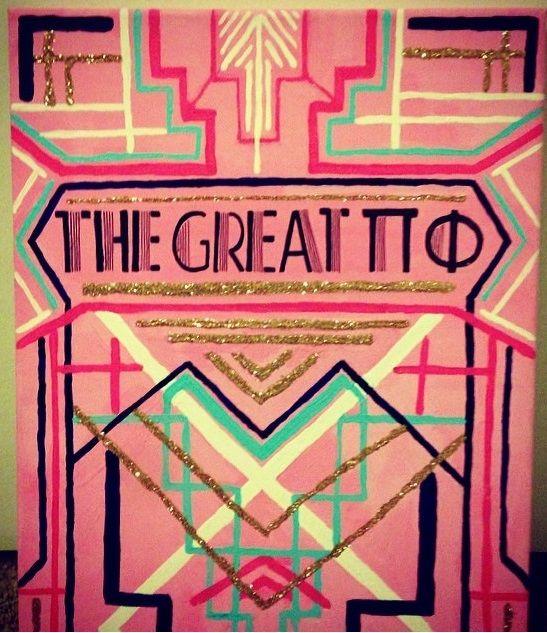 Pi Beta Phi! The Great Pi Phi! Gatsby style #piphi #pibetaphi
