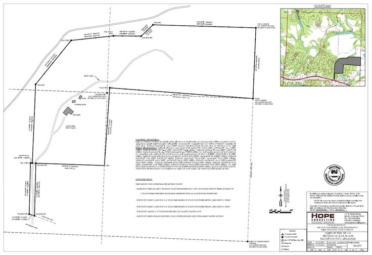 Acreage survey metes and bounds survey saline county for Metes and bounds