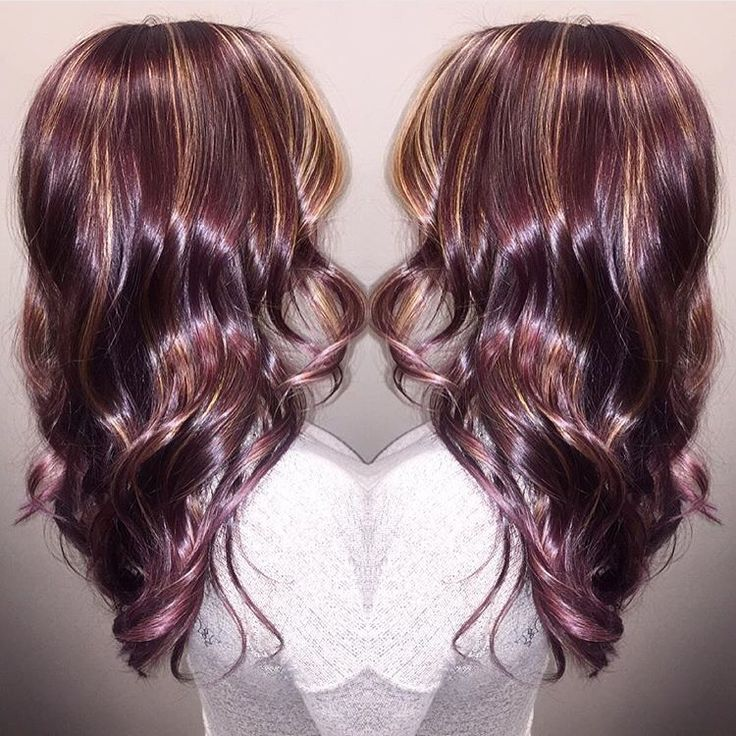 plum with caramel highlights