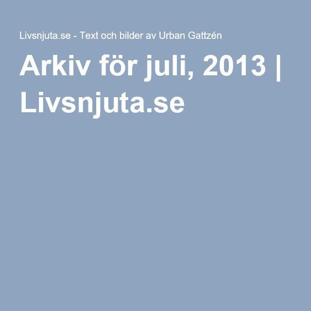 Arkiv för juli, 2013 | Livsnjuta.se