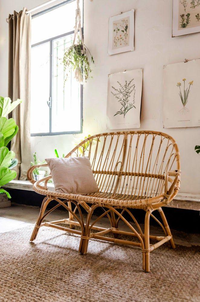 Comment Apporter La Nature Dans Votre Interieur Grace Au Mobilier Et A La Decoration Planete Deco A Homes World Meuble Rotin Canape Rotin Mobilier De Salon