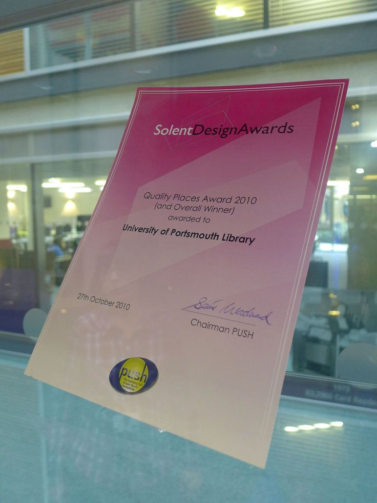 Solent Design Awards; Quality Places (and Overall Winner) 2010