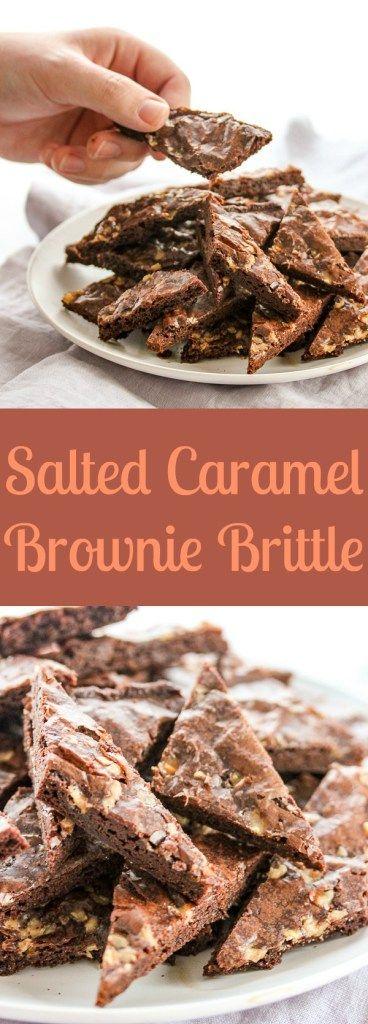 Salted Caramel Brownie Brittle