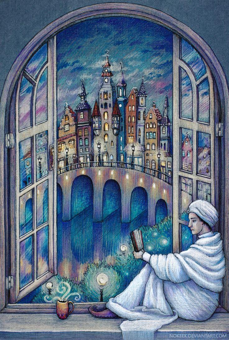 illustration, иллюстрация, fantasy, макс фрай, шурф лонли-локли, ехо, сказка, волшебство, сумерки, max frei