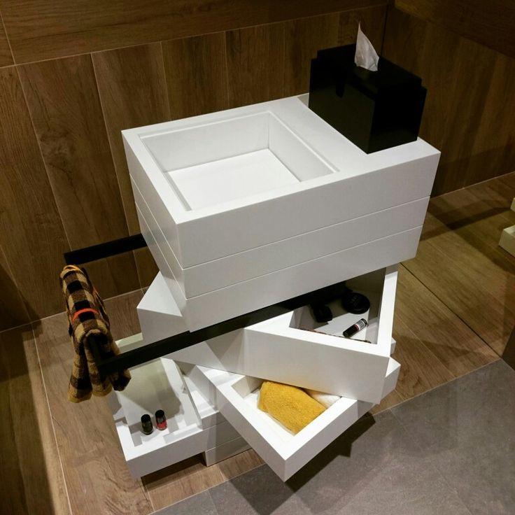 MyBath Levels washbasin www.mybath.pl #mybath #corian #bathroom #modernbathroom #interiordesign #luxurybathroom