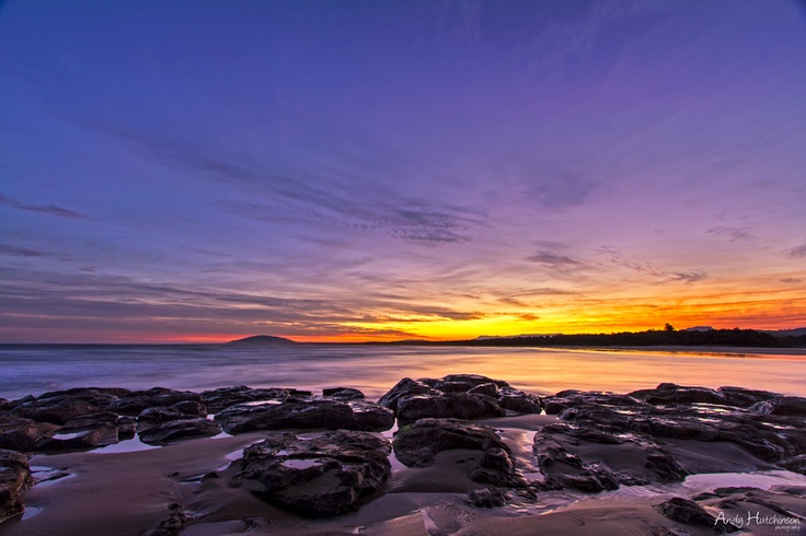 Sunset at Seven Mile Beach in South Coast NSW.