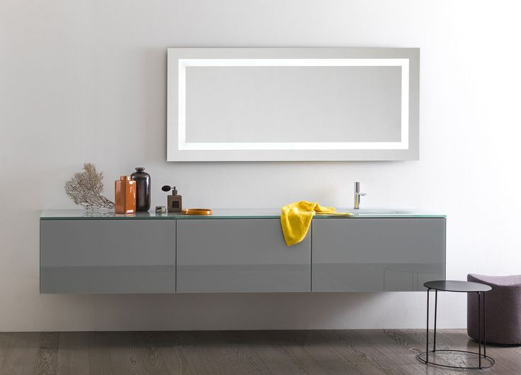 Artelinea's modern wall mount bath vanity / Vero Collection