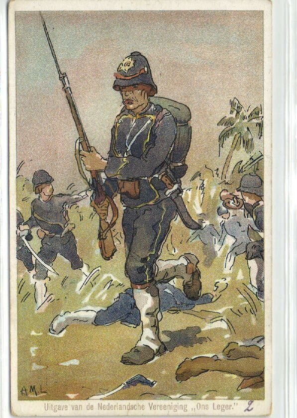 indonesia Dutch Indies Colonial Army Infantry KNIL
