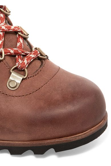 Sorel - Conquest™ Leather Wedge Boots - Brown - US10.5
