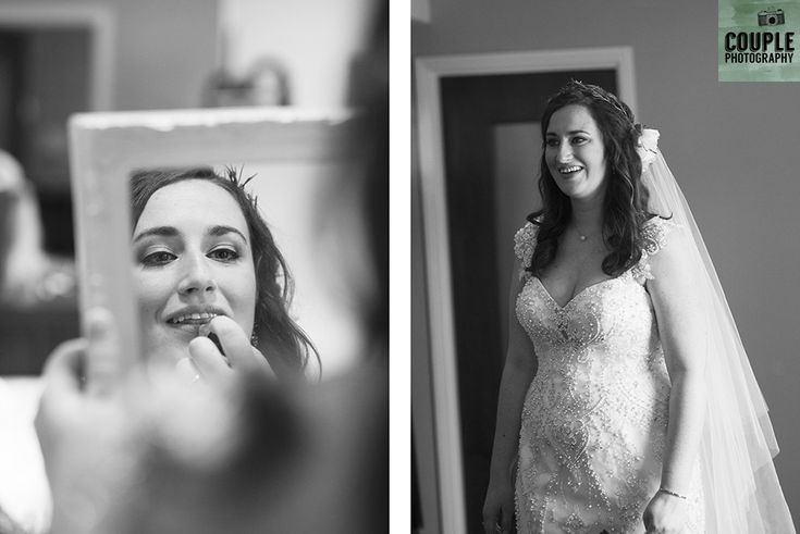 The bride is ready to go. Wedding in The Abbey Tavern, Howth. Photographed by Couple Photography.