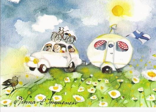 Minna Immonen Finnish illustrator airstream art truck trailor watercolor art
