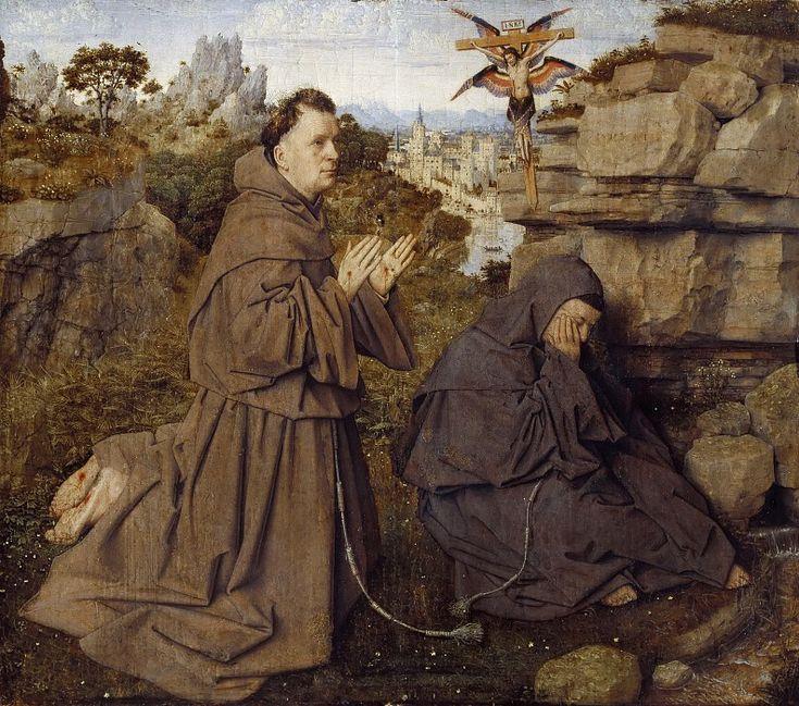 Святой Франциск Ассизский, получающий стигматы. Ян ван Эйк
