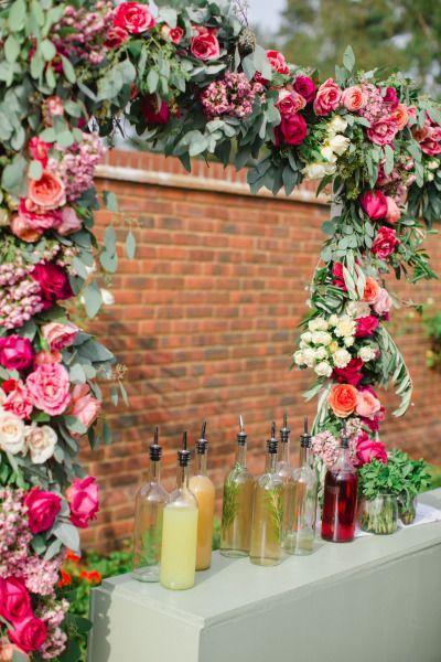best 20 floral garland ideas on pinterest. Black Bedroom Furniture Sets. Home Design Ideas