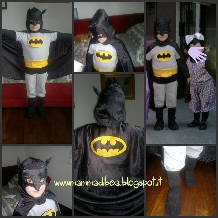 mamma di b.e.a.: Costume di Batman diy