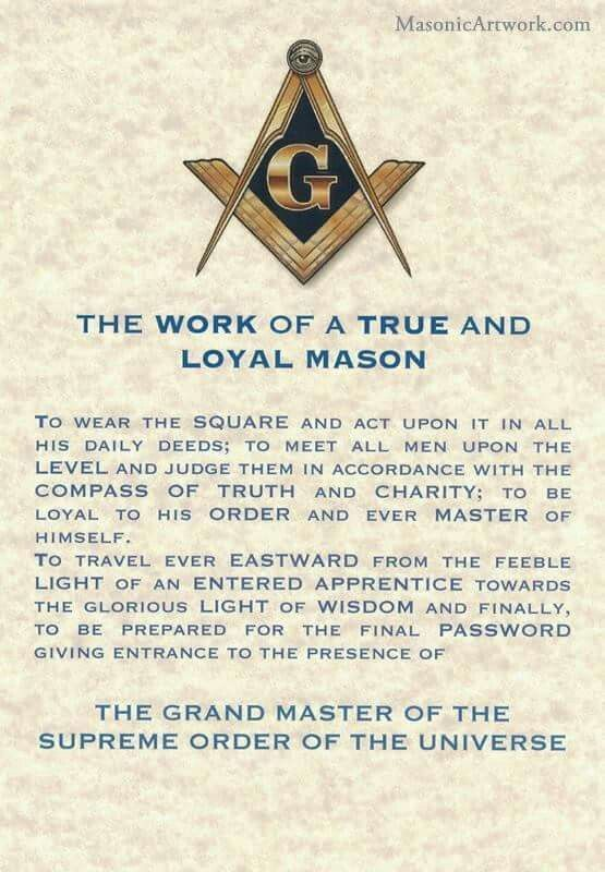 Loyal mason ... Mark is a translation of a real masonry Mason. A true breed