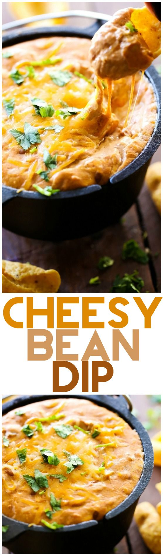 Cheesy Bean Dip... This dip is a crowd favorite! It is super simple to make and tastes incredible! Creamy, cheesy and delicious!