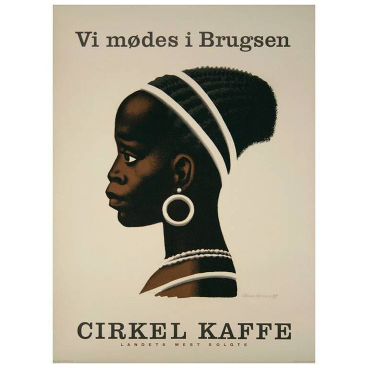 Original Vintage Danish Poster by Sikkir Hansen, 1955 | From a unique collection of antique and modern posters at http://www.1stdibs.com/furniture/wall-decorations/posters/