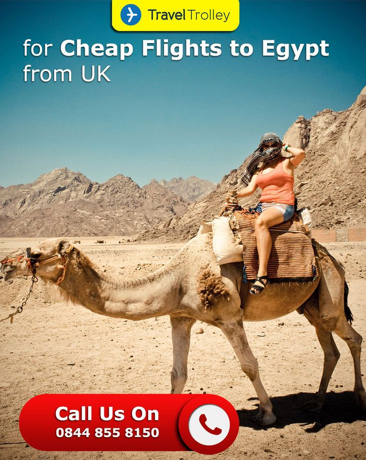 Cheap Flights Tickets to Egypt from UK at Travel Trolley