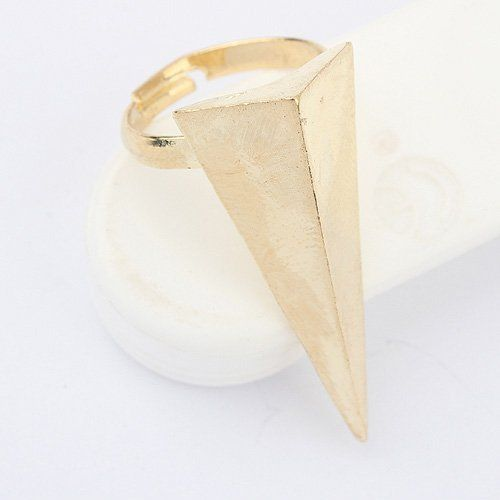 (Min order$10)Free shipping! exaggerated fashion triangular tower all-match metal ring (Gold)!#91924 on AliExpress.com. $0.55