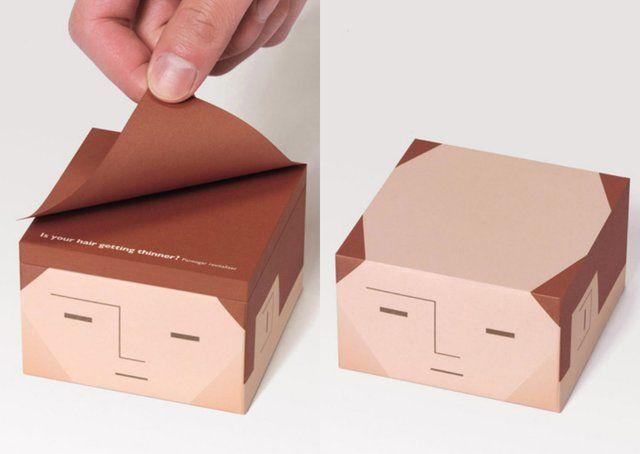 Olha esse bloco de anotações kkk bem hilario , quando o papel acaba o bonequinho fica careca