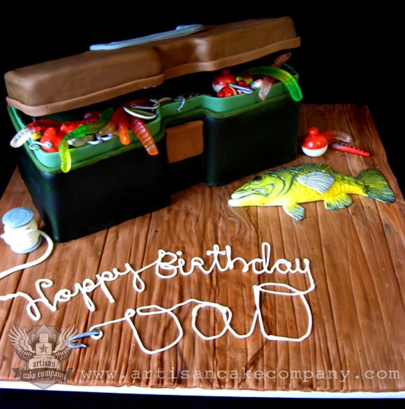 Tackle Box Birthday Cake. This is the cake I would make for my dad =)
