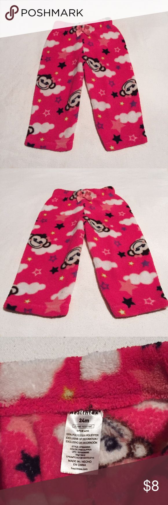Baby Girl Pajama Bottoms These adorable baby girl pajama bottoms are brand new without tags. They are a size 24 months and their brand is Healthtex. They are made of 100% polyester and are incredibly soft! Healthtex Pajamas Pajama Bottoms