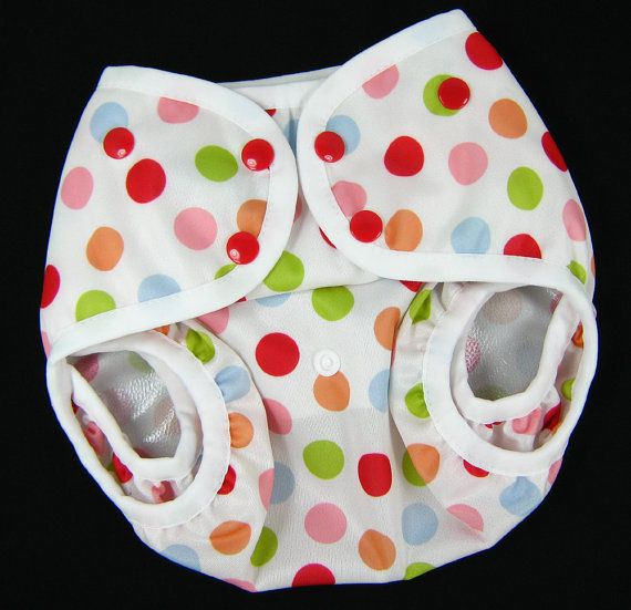 One Size Diaper Cover  Polka Dot PUL Front by SwaddleinCloth