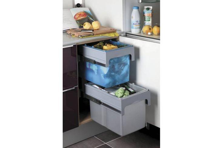 Les 22 meilleures images propos de poubelles pour meuble - Tiroir poubelle cuisine ...