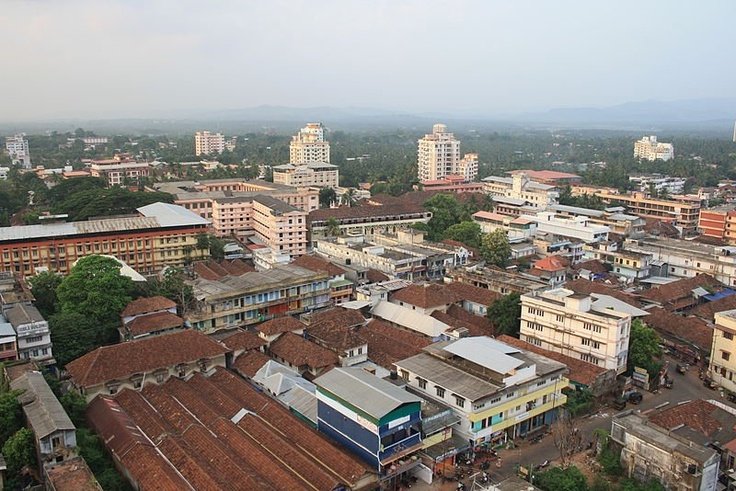 View of Thrissur, Kerala, from the tower of the Basilica of Our Lady of Dolours