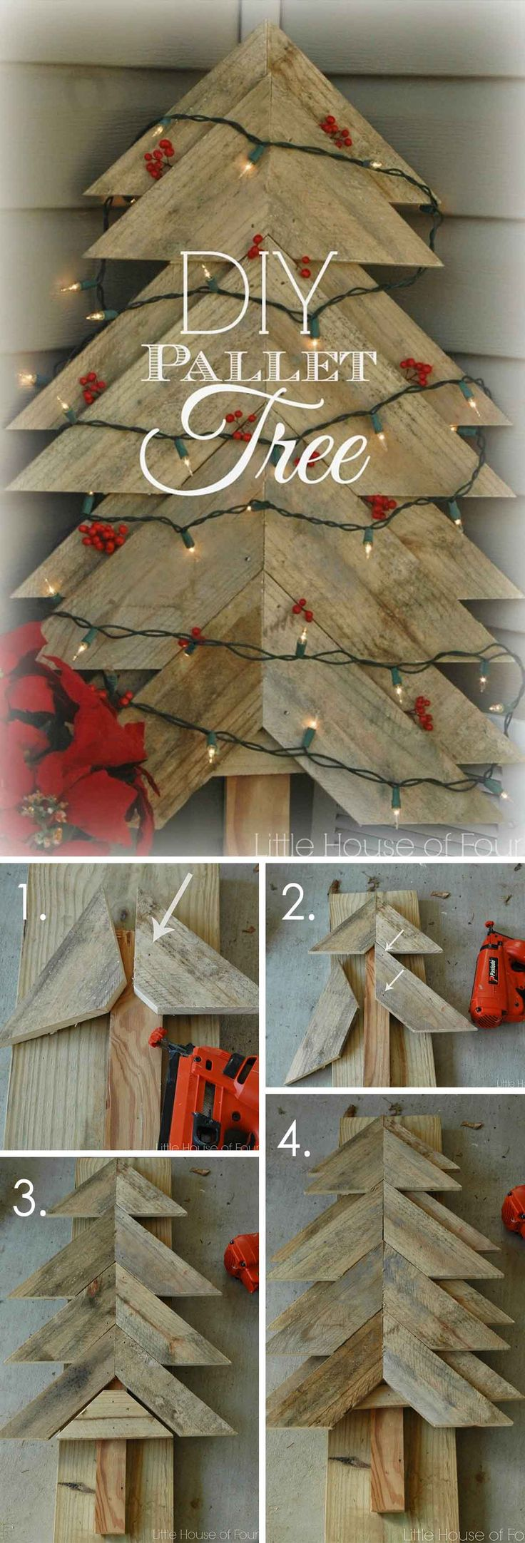 More DIY Christmas Tree Ideas for Pallets
