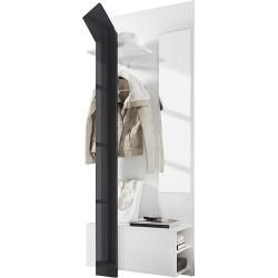 loftscape Garderobenkombination Filipe - Weiß / Hochglanz Grau