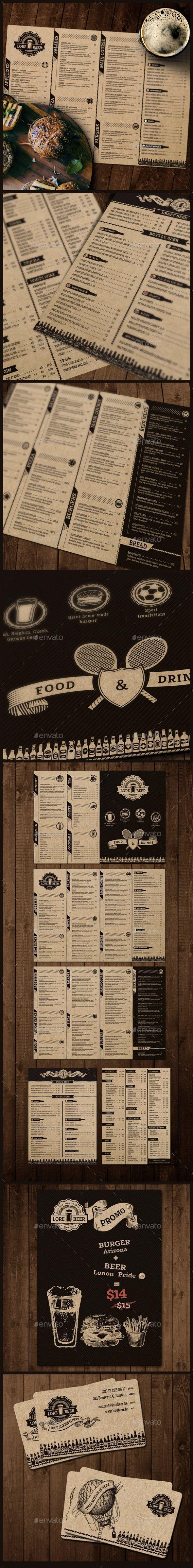 Lore Beer Pub Template #design #alimentationmenu Download: http://graphicriver.net/item/lore-beer-pub/12239806?ref=ksioks