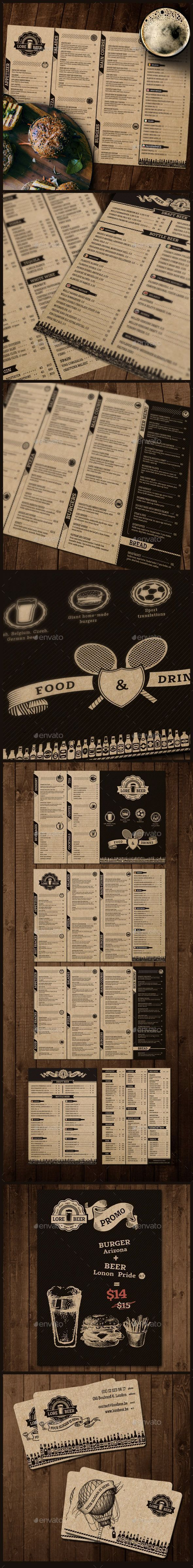Lore Beer Pub Template #design #alimentationmenu Download: http://graphicriver.net/item/lore-beer-pub/12239806?ref=ksioks