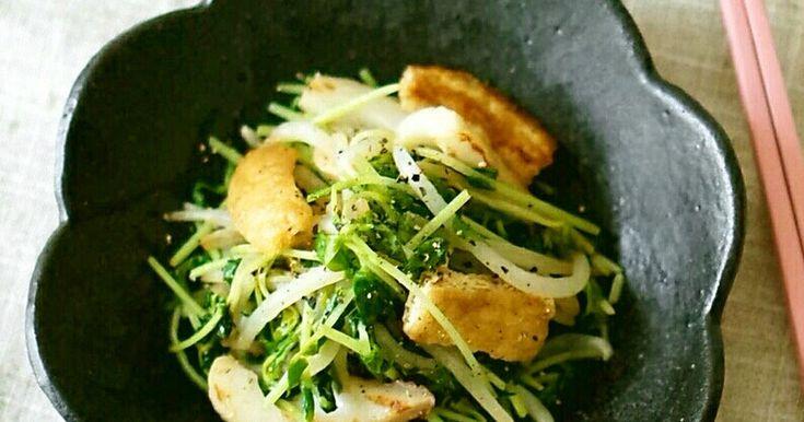 さっとポン酢で炒めるだけの簡単副菜。 さっぱりした炒めものが食べたい時に♪ ちくわと揚げでかさまし&旨味up✿