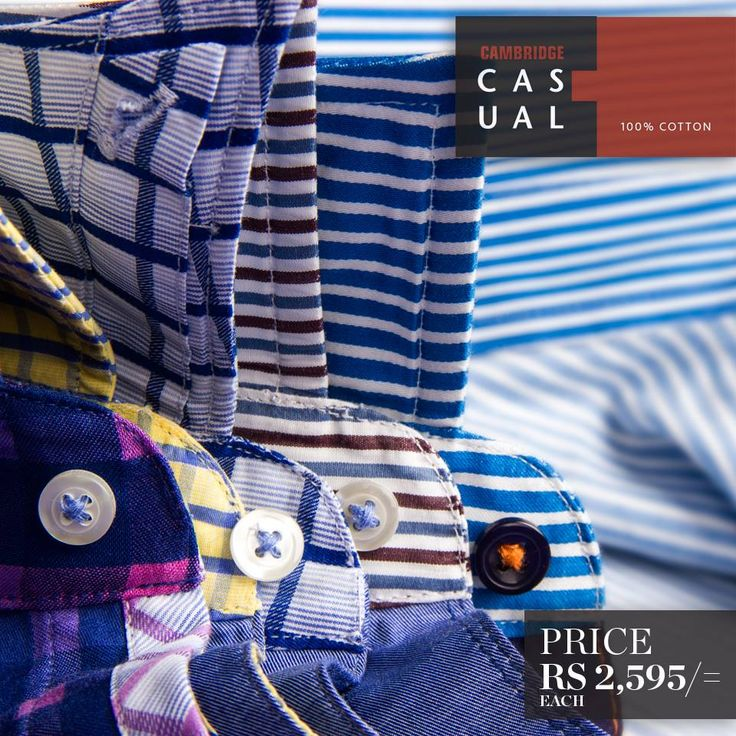 Cambridge Casual Shirts   Semi-formal pure cotton shirts. These are tailored-fit full sleeves shirts, complete the perfect wardrobe for every occasion.!!!  Shop Now: http://goo.gl/O0lh1W