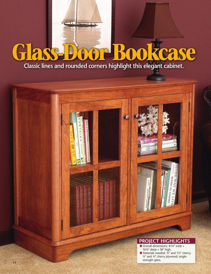 Glass-Door Bookcase DIY plan