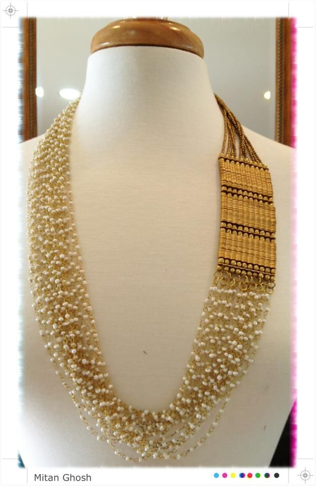 Beautiful #Necklace via Designer Mitan Ghosh, New Jersey http://www.pinterest.com/pin/24066179233486094/ https://www.facebook.com/mitan.ghoshrc