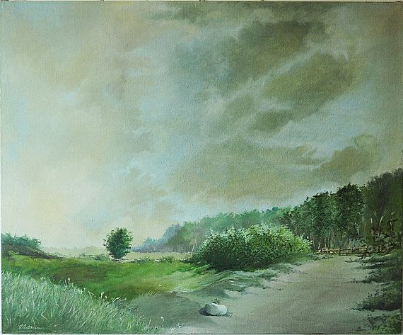 Oil painting original oil painting landscape on by BoostudioArte