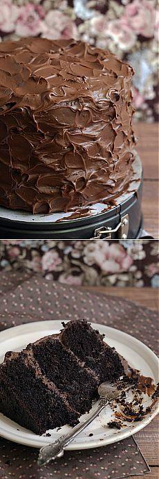 безумный шляпник - Шоколадный торт. Идеальный!