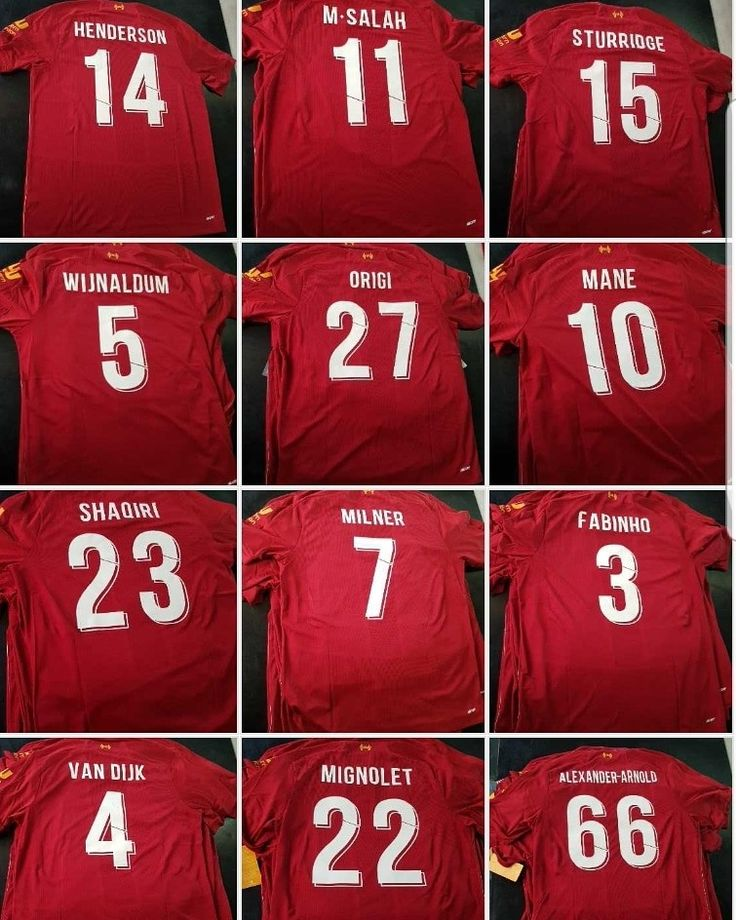 Champions League Font Style Printed On The New Official Liverpool Home Shirts Soccer Shirts Liverpool Home Liverpool Fans