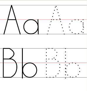 Free Printable Dash Trace Handwriting Worksheet for Kindergarten