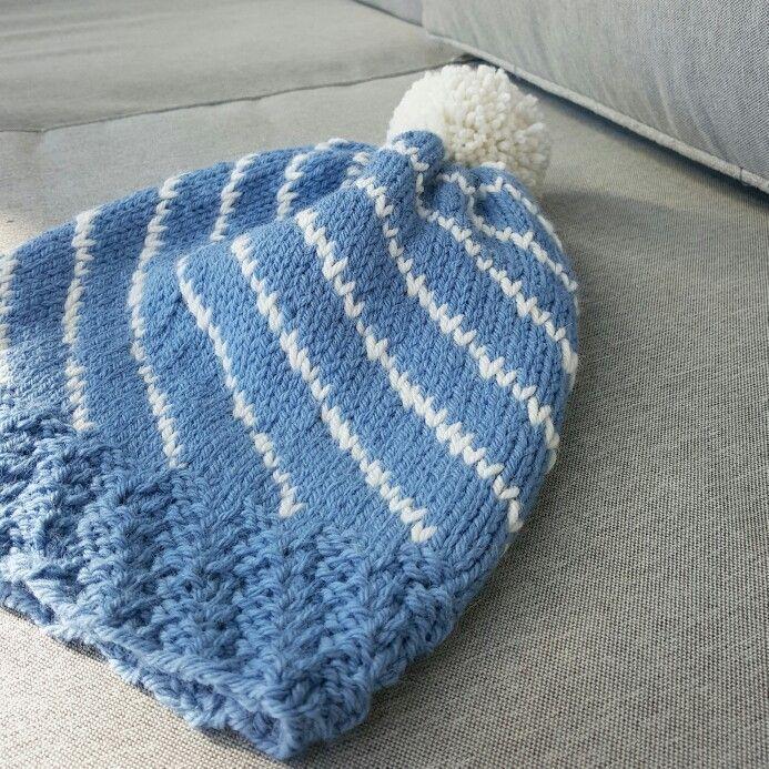 Strikkelue   knitted beanie