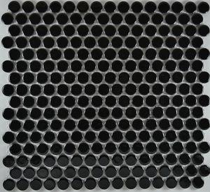Product ID:MCP131 3/4X3/4 Penny Round Black Glossy #Profiletile