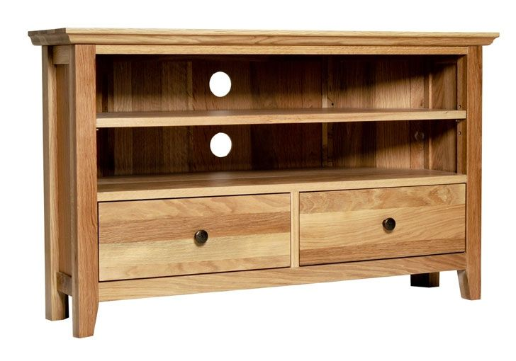 Hereford Rustic Oak Corner TV Unit (£282)