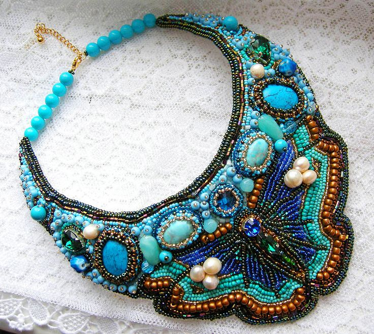 Embroidered Beads: 133 Best Bead Embroidery Images On Pinterest
